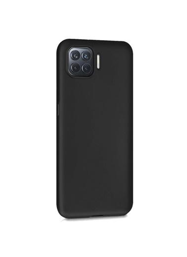 Microsonic Matte Silicone Oppo A73 Kılıf Siyah